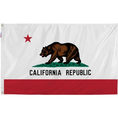 Valley Forge 3 Ft. x 5 Ft. Nylon California State Flag