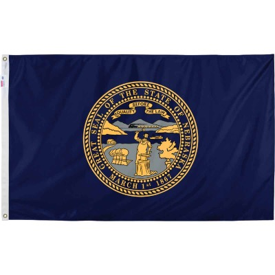 Valley Forge 3 Ft. x 5 Ft. Nylon Nebraska State Flag