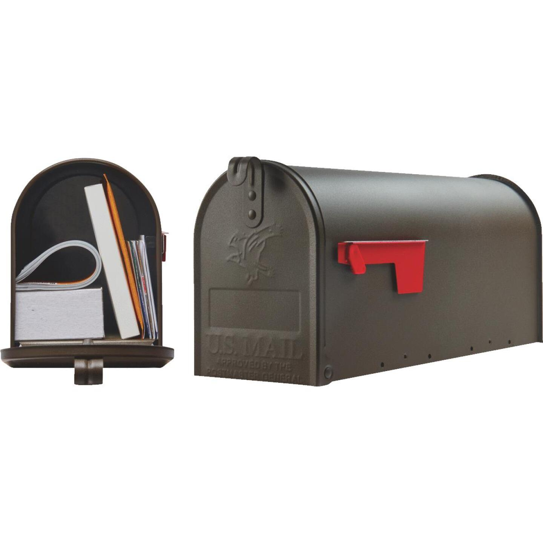 Gibraltar Elite T1 Bronze Steel Rural Post Mount Mailbox Image 1