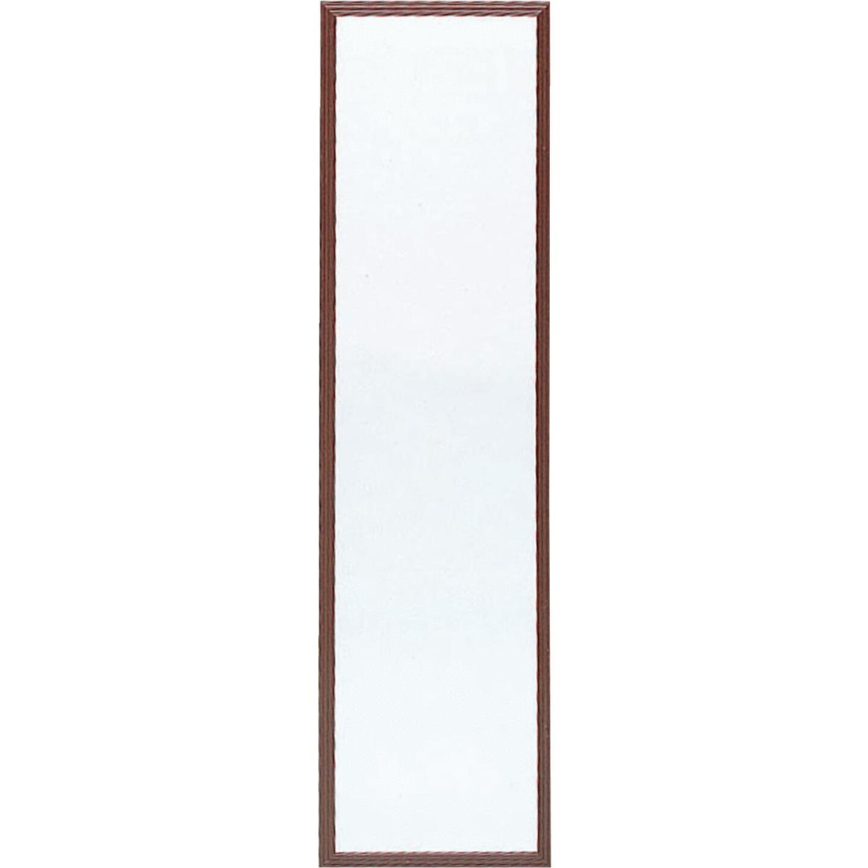Home Decor Innovations Suave 13 In. x 49 In. Walnut Brown Plastic Door Mirror Image 1
