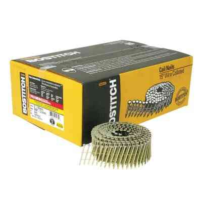 Bostitch 15 Degree Wire Weld Galvanized Coil Framing Nail, 2 In. x .099 In. (3600 Ct.)