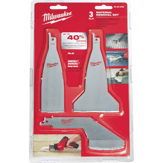 Milwaukee Sawzall 3-Piece Material Removal Reciprocating Saw Blade Set