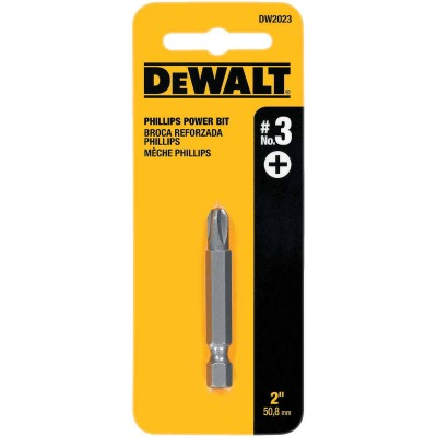 DeWalt Phillips #3 2 In. Power Screwdriver Bit