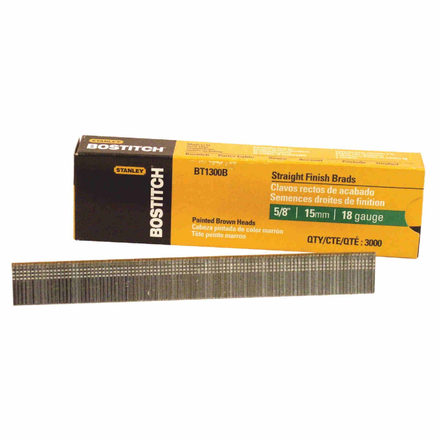 Bostitch 18-Gauge Coated Brad Nail, 5/8 In. (3000 Ct.) Image 1