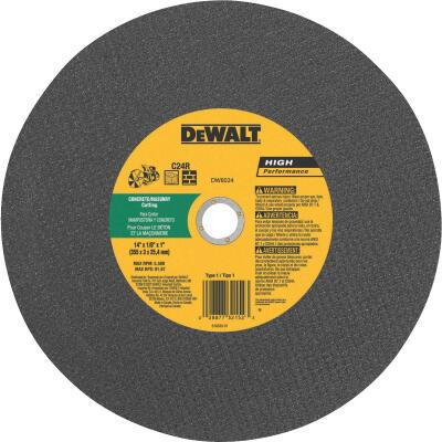 DeWalt HP Type 1 14 In. x 1/8 In. x 1 In. Concrete Cut-Off Wheel