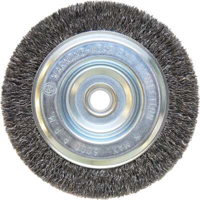 Weiler Vortec 5 In. Crimped, Coarse Bench Grinder Wire Wheel