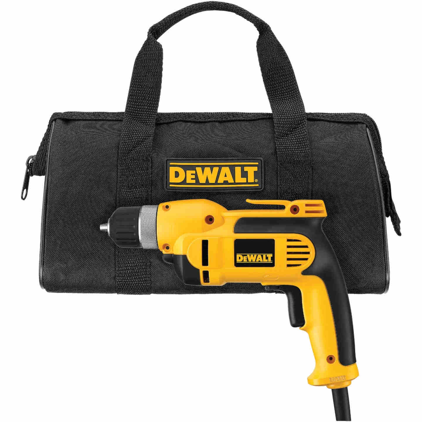 DeWalt 3/8 In. 8-Amp Keyless Electric Drill with Case Image 5