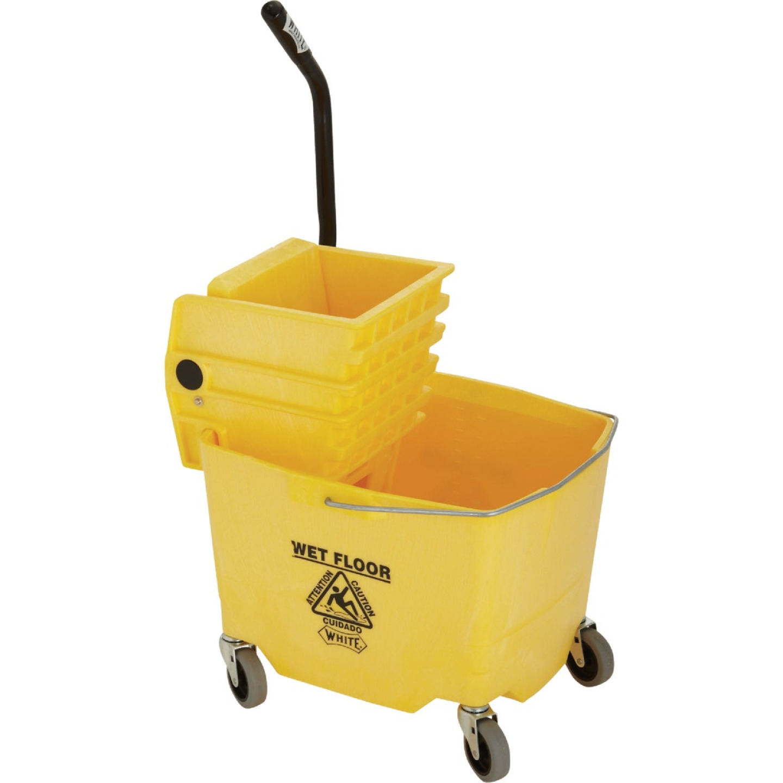 Impact White Mop Bucket & Wringer Combo Image 3