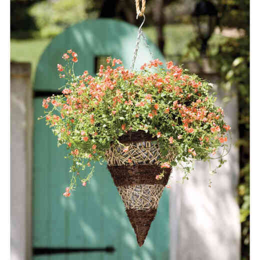 Gardman 12 In. Seagrass & Natural Grass Brown & Tan Hanging Plant Basket