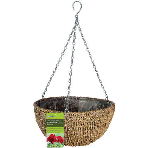 Gardman 14 In. Natural Rope Hanging Plant Basket