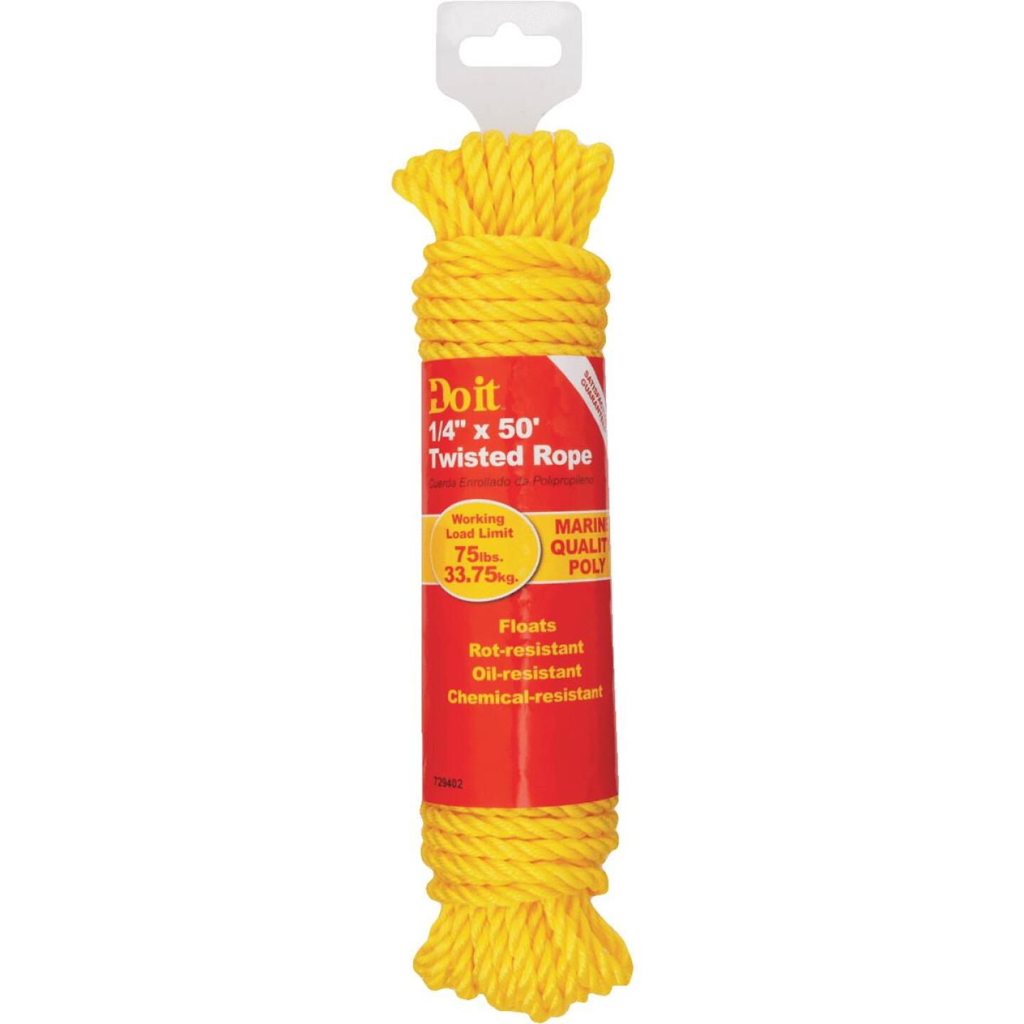 Do it 1/4 In. x 50 Ft. Yellow Twisted Polypropylene Packaged Rope Image 2