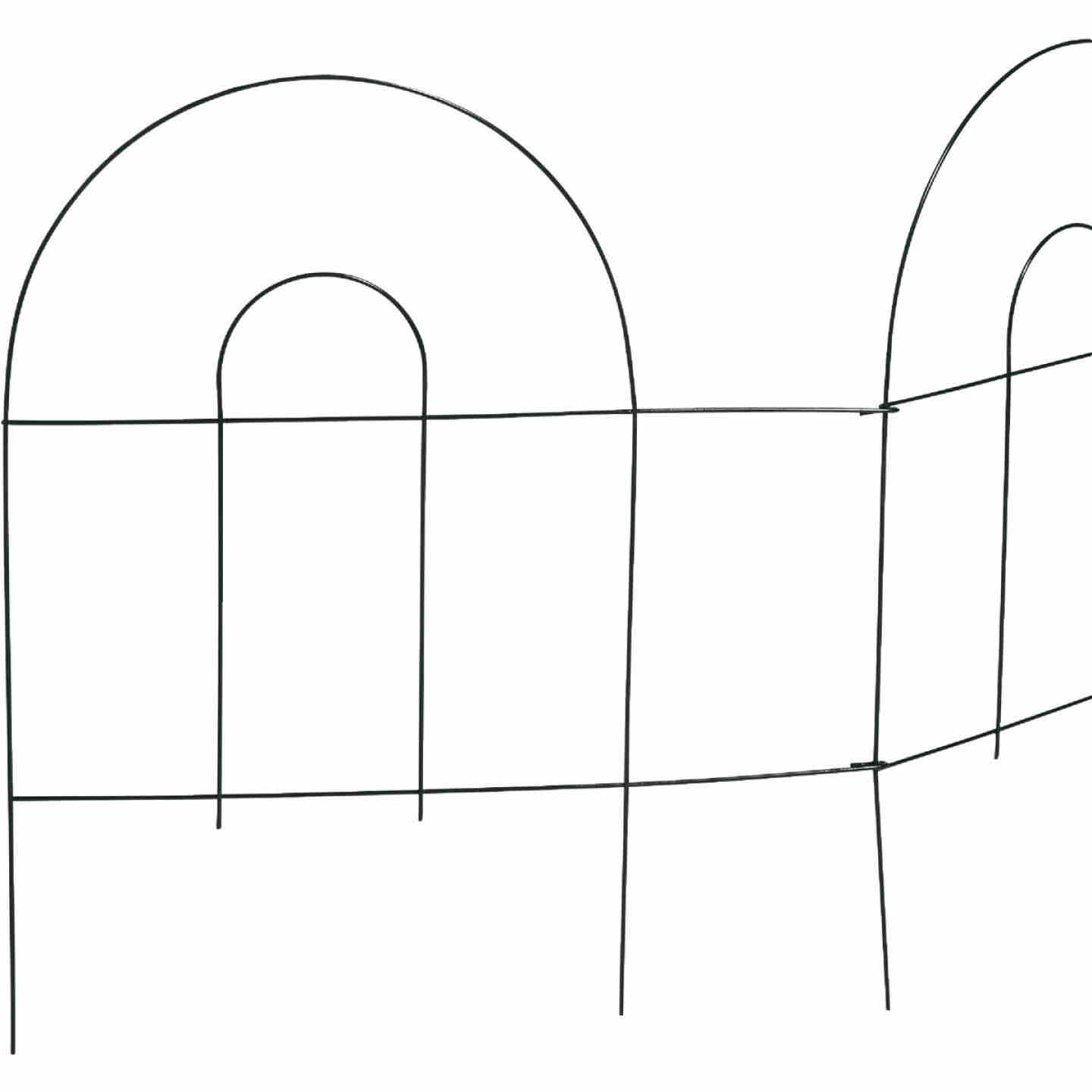 Best Garden 8 Ft. Powder-Coated Green Wire Folding Fence Image 1